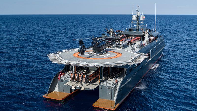 Совладелец Belgravia Yachts Виктор Мартынов: наличие палубного вертолёта наращивает количество возможных сценариев использования суперъяхты
