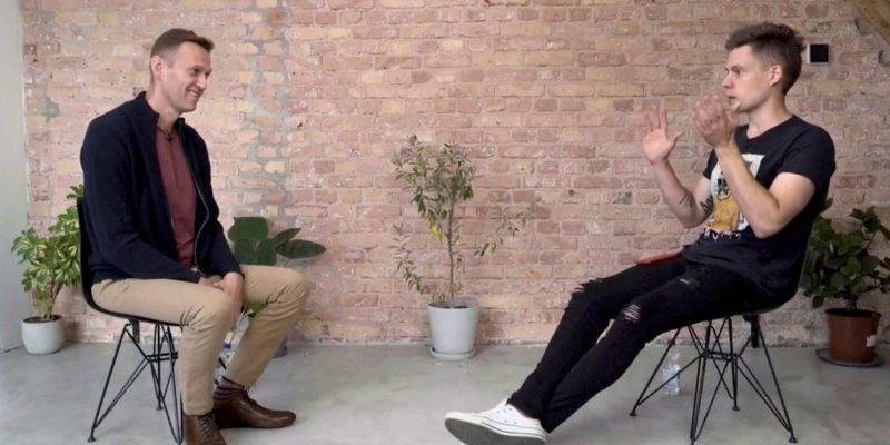 Навальный дал интервью Дудю