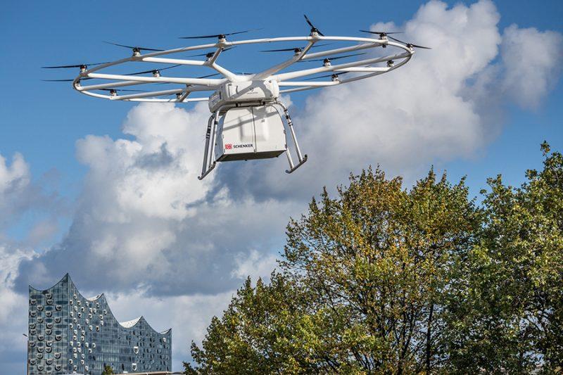 DB Schenker организовал первый публичный полет VoloDrone